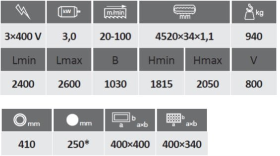 технические характеристики Pegas 400 Profi